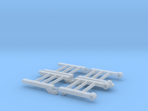 1/64 Danahoo trailer ramps in Smooth Fine Detail Plastic
