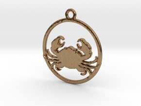 Cancer Pendant in Natural Brass