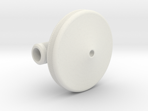 Heavy Spin Coin in White Natural Versatile Plastic