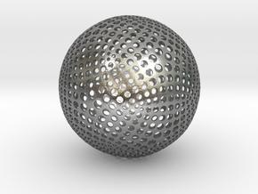 Designer Sphere in Natural Silver