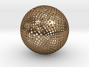 Designer Sphere in Natural Brass