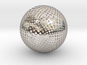 Designer Sphere in Rhodium Plated Brass