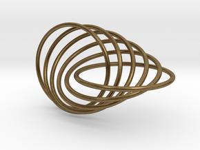 6-Ring Roller Ring in Interlocking Raw Bronze