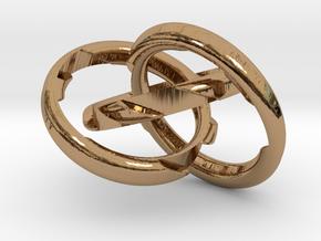 Three Phase Size 6 in Interlocking Polished Brass