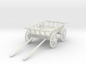 "Old Cart 40"" Wheels in White Natural Versatile Plastic: 1:24"