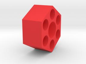 12mm Hex Wheel Adapter in Red Processed Versatile Plastic
