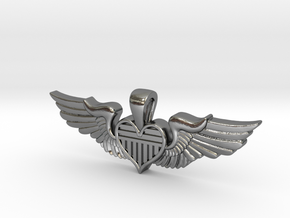 The Original Sweetheart Wing in Polished Silver