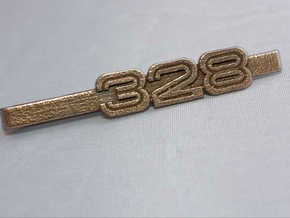 TIE CLIP 328 LOGO in Polished Gold Steel