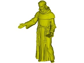1/35 scale Catholic priest monk figure A in Smooth Fine Detail Plastic