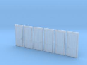 Door Type 5 HO Scale X 6 in Smooth Fine Detail Plastic