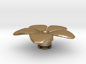 FLEURISSANT - Flower #2 in Polished Gold Steel