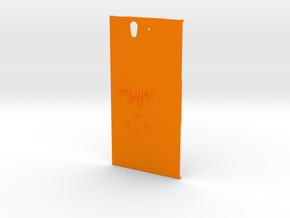 Sony Xperia Z case (Golden Eye style) in Orange Processed Versatile Plastic