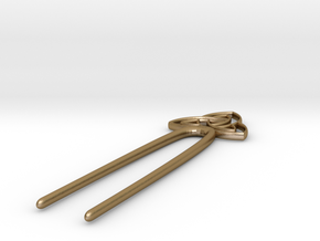 Knotbigpin in Polished Gold Steel