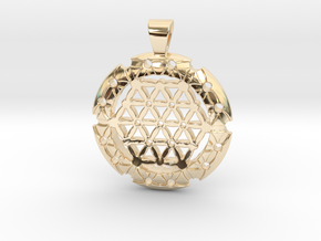 XL Flower Of Life-Fleur de vie in 14K Yellow Gold