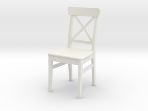 Ikea Ingolf Chair in White Natural Versatile Plastic: 1:12