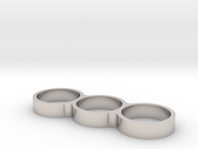 Triple Ring Bearing Spinner in Platinum