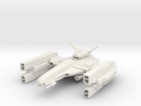 Gun Ship in White Natural Versatile Plastic