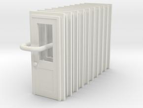 Door Type 3  X 10 Scale HO in White Natural Versatile Plastic