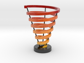 Ross Spiral Color 3 supports in Coated Full Color Sandstone