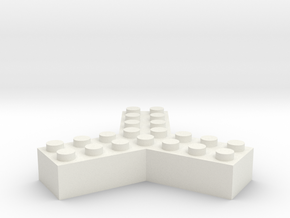 Trilego-2x4 in White Natural Versatile Plastic