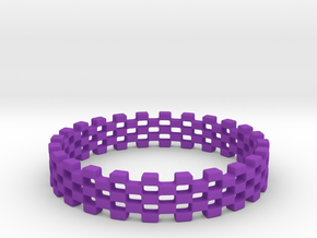 Continum Ring (US Size-8)  in Purple Processed Versatile Plastic: 8.75 / 58.375