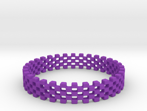 Continum Ring (US Size-10)  in Purple Processed Versatile Plastic: 10 / 61.5