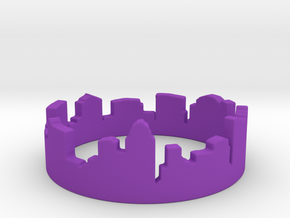 Columbus Night Ohio Ring (Size-5) in Purple Processed Versatile Plastic: 5 / 49