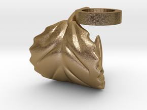 FLEURISSANT - Leaf ring #4 in Polished Gold Steel