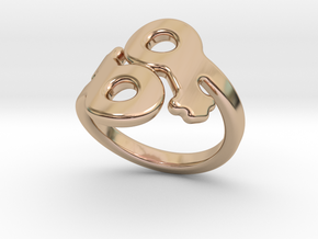 Saffo Ring 29 – Italian Size 29 in 14k Rose Gold Plated Brass