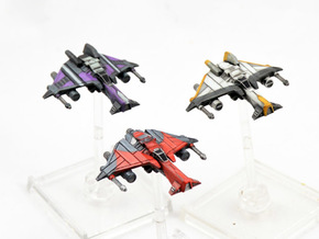 3 pack Kihraxz Style Vaksai Starfighter S2 Variant in Frosted Extreme Detail