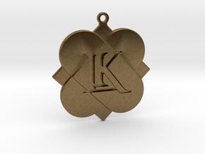 Custom Logo Keychain Pendant in Natural Bronze