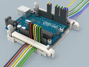 Arduino UNO Compatible Holder in White Strong & Flexible