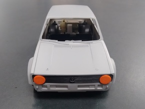 Rabbit Eyes - Tamiya Golf Mk1 1/24 Scale in Orange Processed Versatile Plastic