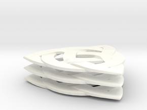 3 X 33 mm Celtic Knot Guitar Pick Medium Thickness in White Processed Versatile Plastic