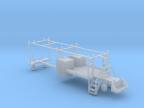 MOW Rail Truck For A Four Door Cab 1-87 HO Scale  in Smooth Fine Detail Plastic