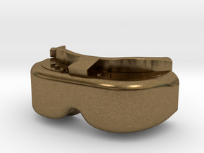 FPV Goggles Keychain in Natural Bronze: Small