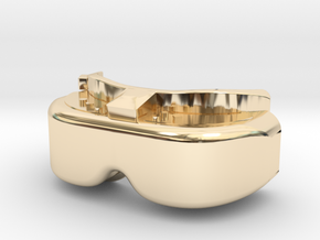 FPV Goggles Keychain in 14K Yellow Gold: Small