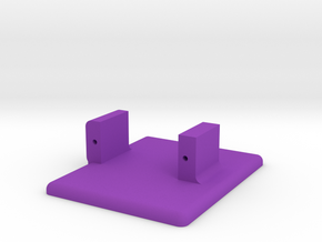 Funny Feet - Left Foot in Purple Processed Versatile Plastic