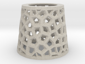 Angular Voronoi Lampshade in Natural Sandstone