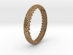 Hex Bangle 2 in Polished Brass