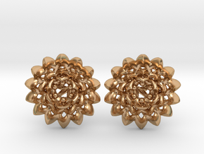 Plugs The Chrysanthemum / gauge / size 6G (4mm) in Polished Bronze
