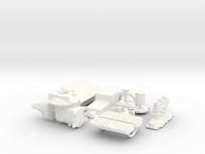 1/16 Flathead W Offy Head Triple Deuce in White Processed Versatile Plastic