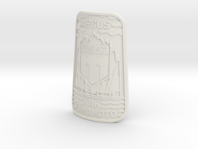 CAD design only. Bicycle badge (taper) in White Natural Versatile Plastic