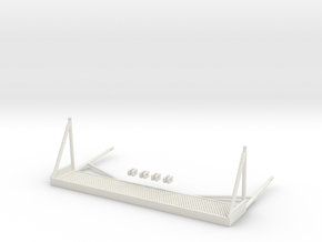 1.6 SIDE STEPS BELL412 X1 in White Natural Versatile Plastic