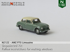 AWZ P70 Limousine (N 1:160) in Smooth Fine Detail Plastic
