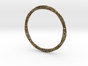 Twist Bangle in Polished Bronze