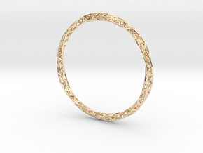 Twist Bangle in 14k Gold Plated Brass