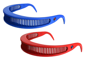 Star Trek Visor Shades in Blue Processed Versatile Plastic: Small