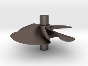 4 blade 5 inch left hand propeller  in Stainless Steel