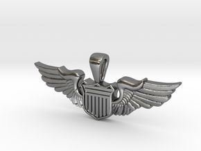 The Wingwoman in Polished Silver